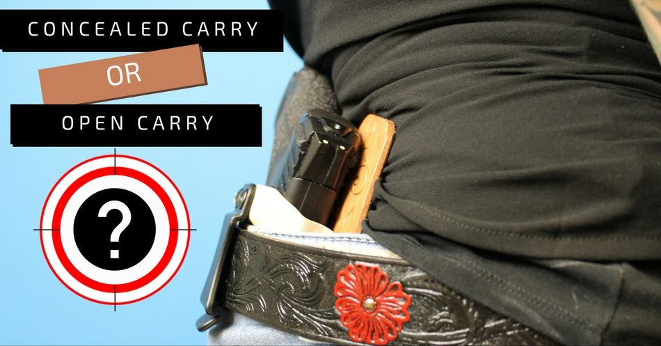 Concealed carry vs open carry holster